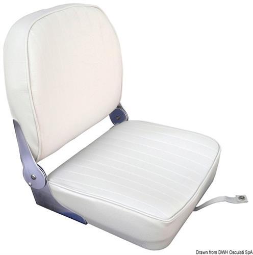 Sedile schienale ribaltabile in vinile bianco [Osculati]