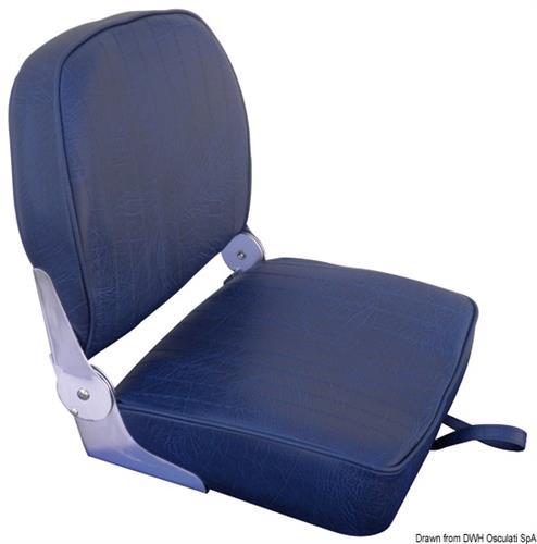Sedile schienale ribaltabile in vinile blu navy [Osculati]