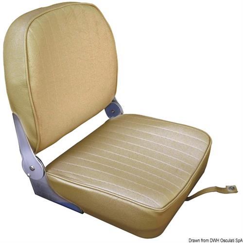 Sedile con schienale ribaltabile in vinile color sabbia  [OSCULATI]