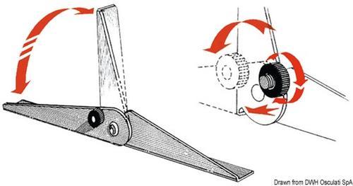 Coppia di cerniere sedile in acciaio inox  [OSCULATI]