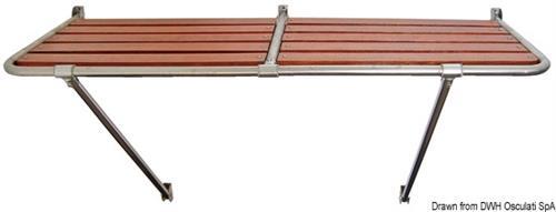 Plancetta di poppa in acciaio inox aisi 316 e Iroko 230x55 cm [OSCULATI]