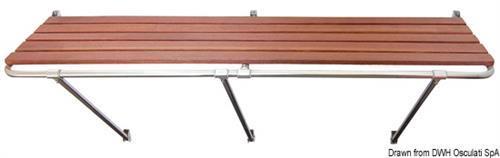 Plancetta di poppa in acciaio inox aisi 316 e Iroko 200x55 cm [OSCULATI]