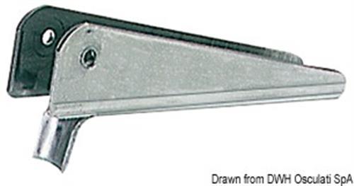 Cavallotto inox per scalette ribaltabili su plancette da 25 mm  [OSCULATI]