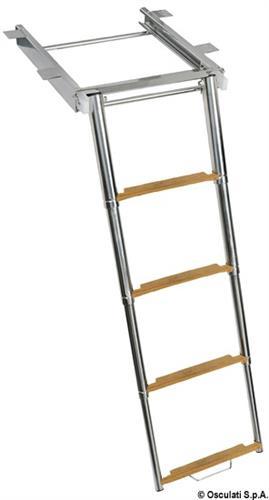 Scaletta con slitta TOP LINE a 4 gradini [OSCULATI]