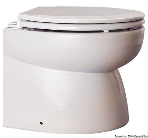 WC elettrico carenato con tazza in porcellana bianca 24 V basso  [OSCULATI]