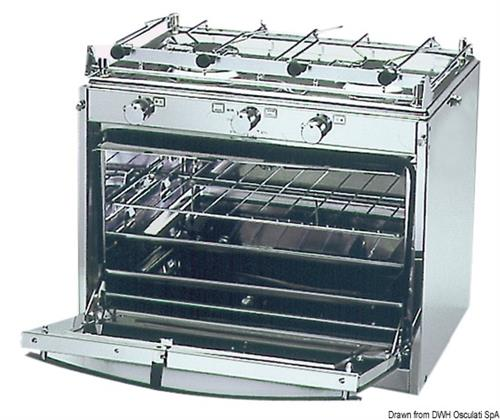 Cucina TECHIMPEX Marinertwo a 2 fuochi con forno  [OSCULATI]