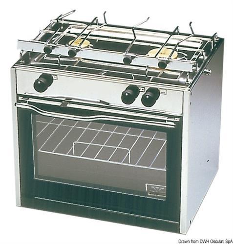 Cucina TECHIMPEX Classic a 2 fuochi con forno  [OSCULATI]