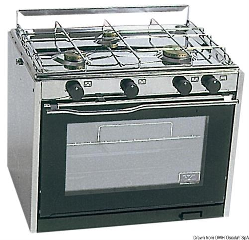 Cucina TECHIMPEX a 3 fuochi con forno  [OSCULATI]