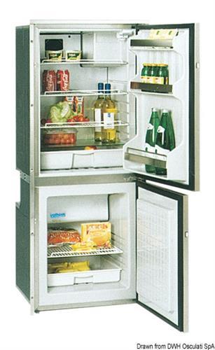 Frigorifero Isotherm CR195 inox con congelatore 130+65 lt [OSCULATI]
