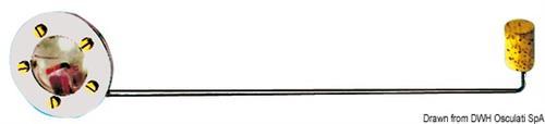 Livello benzina meccanico per serbatoi da 62,91,102,120,140 lt in eltex [OSCULATI]