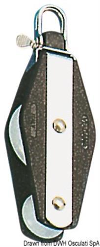 Bozzello a 2 pulegge per cime da 10 mm [OSCULATI]