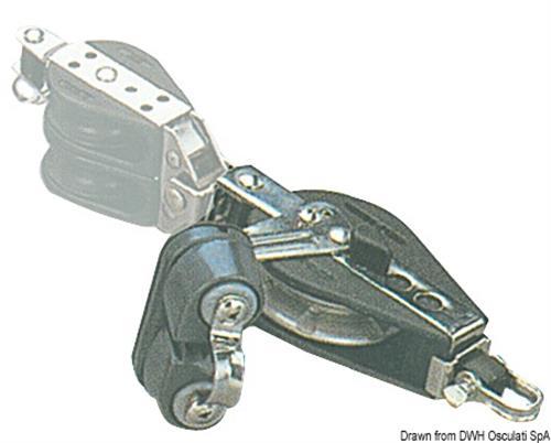 Bozzello inox con strozzascotte e arricavo girevole 10x57  [OSCULATI]