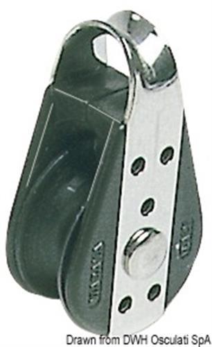 Bozzello inox semplice con occhio fisso 22x6  [OSCULATI]