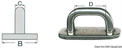 Cursore per rande ad alta resistenza 19 mm [OSCULATI]