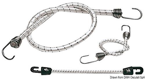 Cavo elastico con gancio inox 1000x10mm  [OSCULATI]