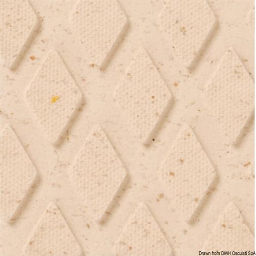 Rivestimento bianco sabbia TREADMASTER classico da coperta, cockpit e gradini scalette [OSCULATI]