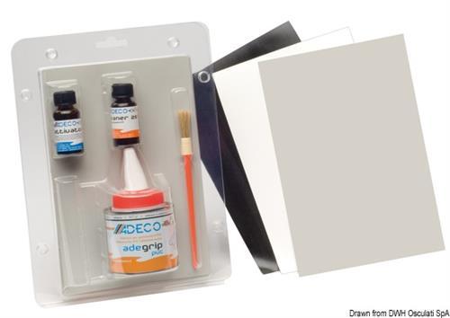 Kit riparazione per gommoni PVC grigio  [OSCULATI]