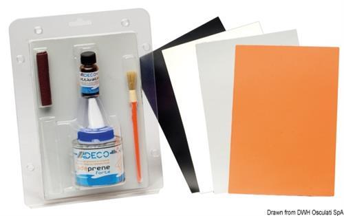 Kit riparazione per gommoni specifico ADAMPRENE grigio