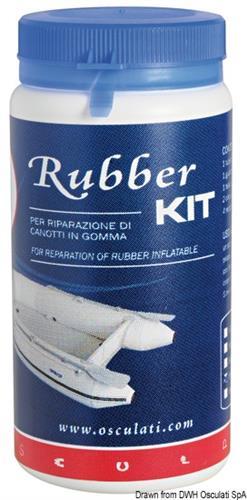 Kit riparazione per gommone Rubber giallo  [OSCULATI]