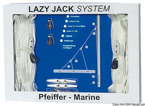 Kit Lazy jack fino a 40 piedi  [OSCULATI]