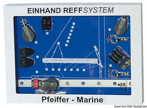 Sistema completo PFEIFFER, kit per terzarolare la randa direttamente dal pozzetto