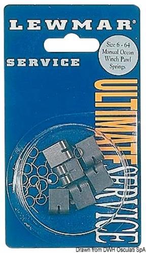 Kit manutenzione 6 nottolini standard per winch 5-48 e 66 + 12 molle [OSCULATI]