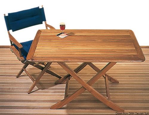 Tavolo in teak 118x70 cm  [OSCULATI]