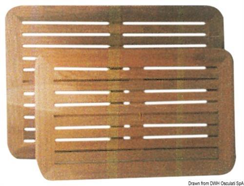 Piani tavolo in teak 55x80 cm  [OSCULATI]