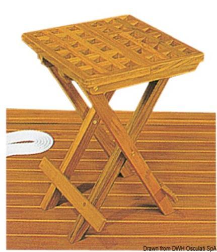 Sgabello teak  30x30x45 cm  [OSCULATI]