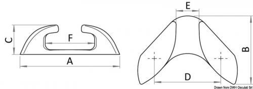 Passacavo inox Capri prua 105mm [Osculati]