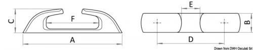 Passacavo inox Capri diritto 120mm [Osculati]
