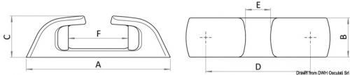 Passacavo inox Capri a rulli 210mm [Osculati]