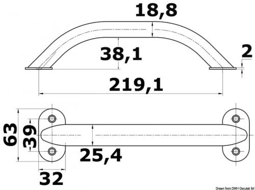 Handrail 8-5/8