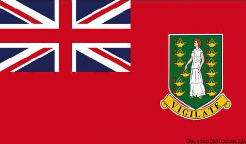 Bandiera Isole Vergini Britanniche merc. 30x45