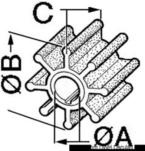 Girante per motore fuoribordo MERCURY 20/30 HP  [OSCULATI]