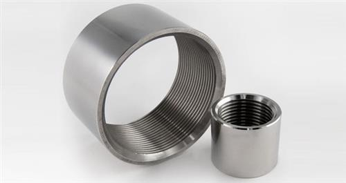 Manicotto in acciaio inox filettato 1/4 pollice (opaco)- AISI 304