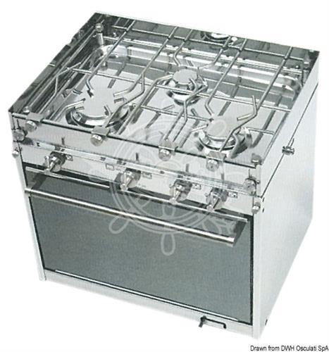 Cucina a gas topline 4 fuochi TECHIMPEX