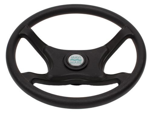 Volante con impugnatura in plastica nera diametro 320 [MAVIMARE]