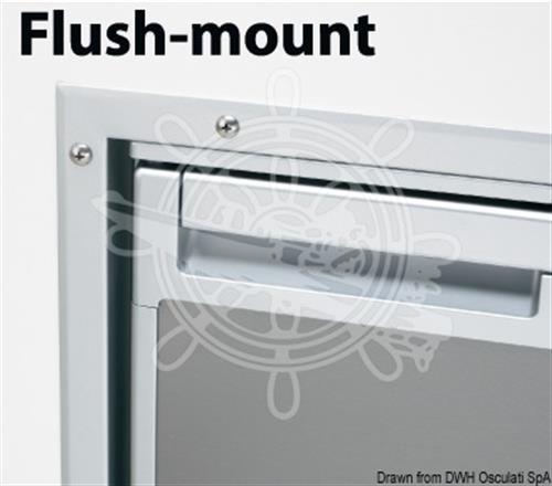 Telaio flush mount per firigorifero CR140 chrome [OSCULATI]
