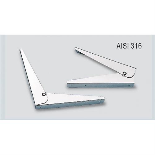 Cerniere in acciaio inox lucide reclinabili a 90° 25x35 [MAVIMARE]