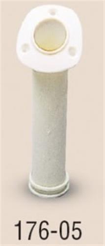 Portacanne in nylon bianco flangia larga