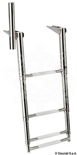 Scaletta telescopica da plancetta con maniglia di presa a 4 gradini [OSCULATI]