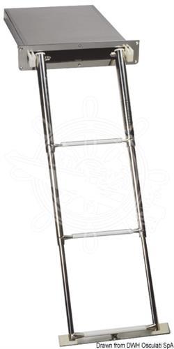 Scaletta a scomparsa a 4 gradini con chiusura manuale [OSCULATI]