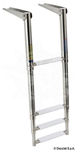 Scaletta telescopica da plancetta a 4 gradini versione standard [OSCULATI]