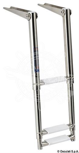 Scaletta telescopica da plancetta a 3 gradini versione stretta [OSCULATI]