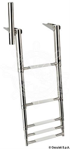 Scaletta telescopica da plancetta con maniglia di presa a 5 gradini [OSCULATI]