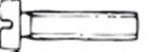 Viti testa cilindrica interamente filettata, taglio a cacciavite 8x80 inox 304 [OSCULATI]