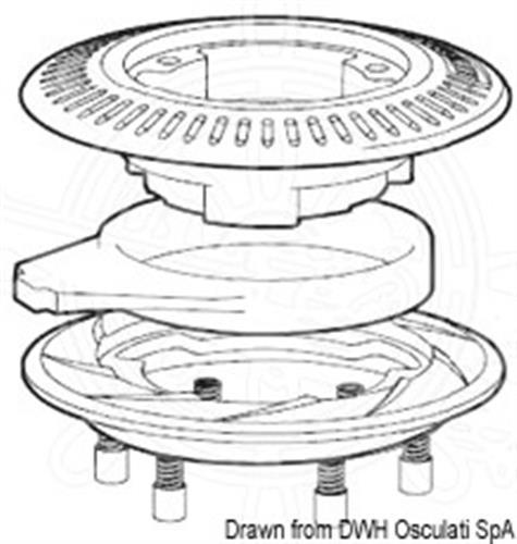 Anello di distacco 58/65 per winch Ocean self-tailing [OSCULATI]