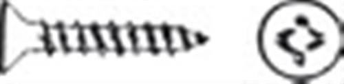 Viti fastar inox testa svasata piana taglio a croce 4,5x50 [OSCULATI]