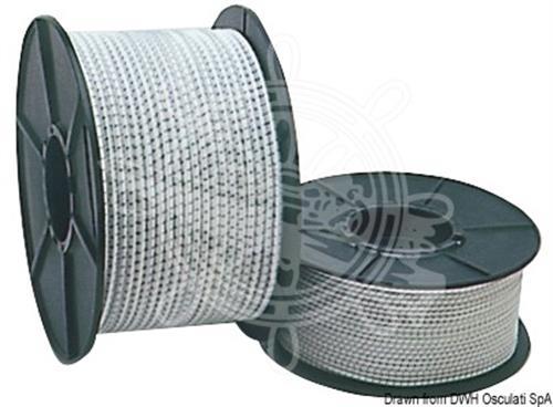 Cavo elastico bianco in para 50 mt diametro 14 [OSCULATI]
